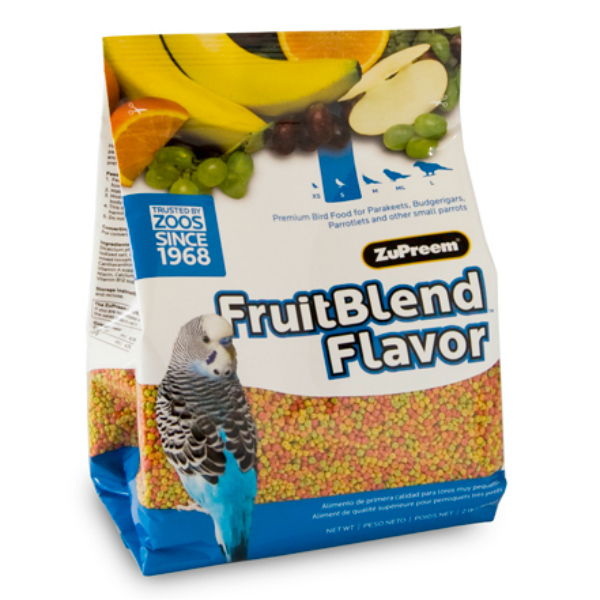 Zupreem Fruit Blend Parakeet Avian Maintenance 2 lb (.907 kg)