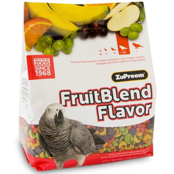 Zupreem Fruit Blend Parrot Conure Avian Maintenance 2 lb (.907 kg)