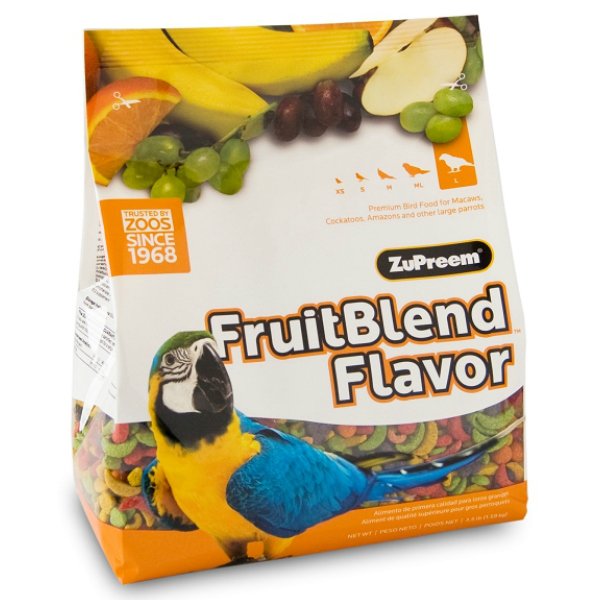Zupreem Fruit Blend Large Parrot Avian Maintenance 3.5 lb (1.59 kg)