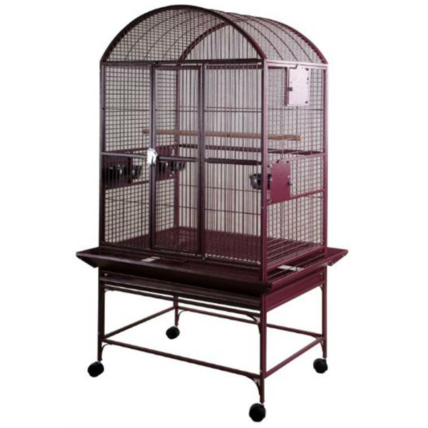Dome Top Bird Cage for Medium Large Parrots by AE 9003223 Burgundy