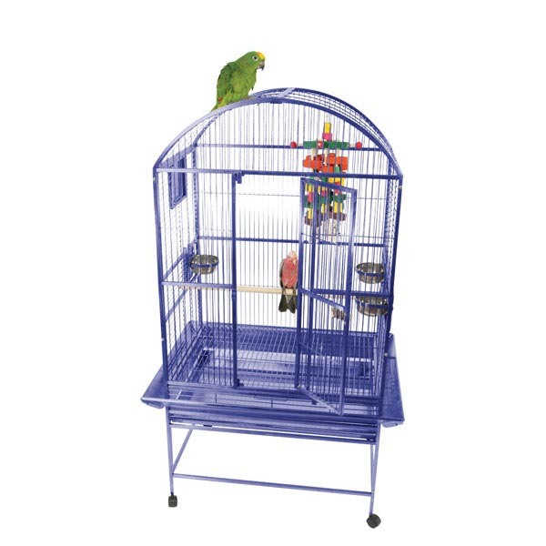 Dome Top Bird Cage for Medium Large Parrots by AE 9003223 Black