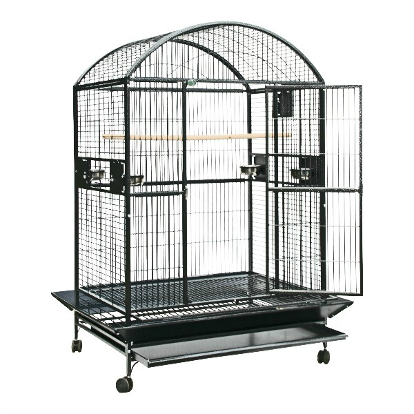 Dome Top Bird Cage for Large Parrots by AE 9004836 Black