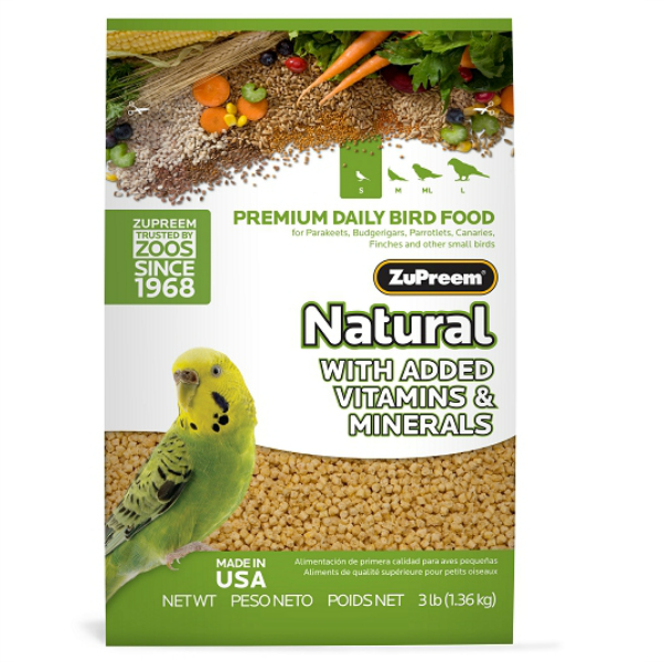 Zupreem Natural Parakeet Bird Food Pellets 2.25 lb (1.02 kg)