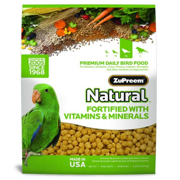 Zupreem Natural Medium Large Bird Food Pellets 3 lb (1.36 Kg)