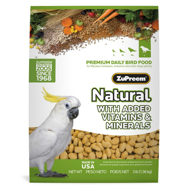 Zupreem Natural Large Bird Food Pellets 3 lb (1.36 Kg)
