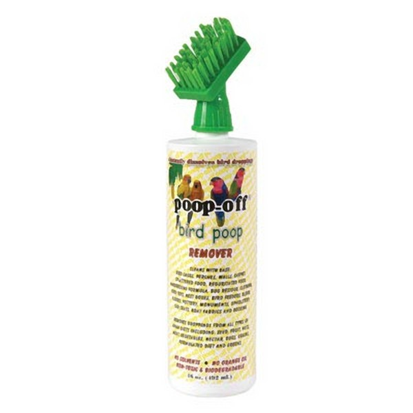 Poop Off Bird Poop Remover 16 oz Brush Top