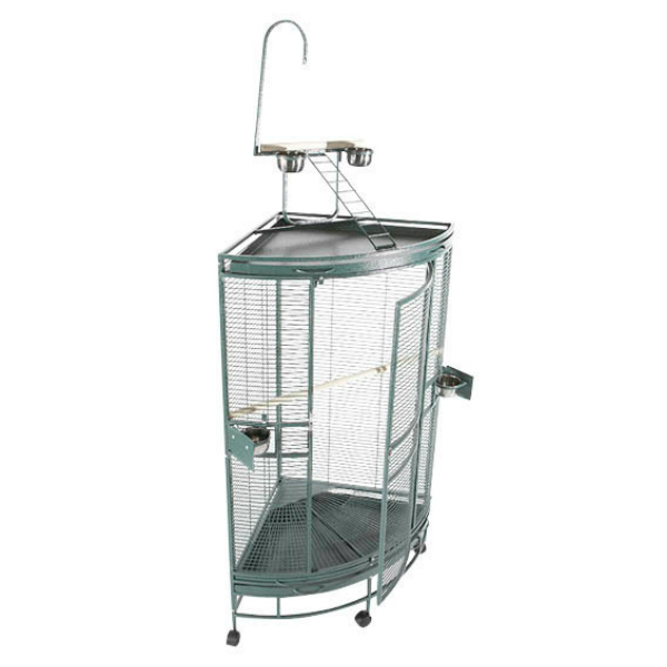Corner Bird Cage for Smaller Birds by AE CC2525 Black