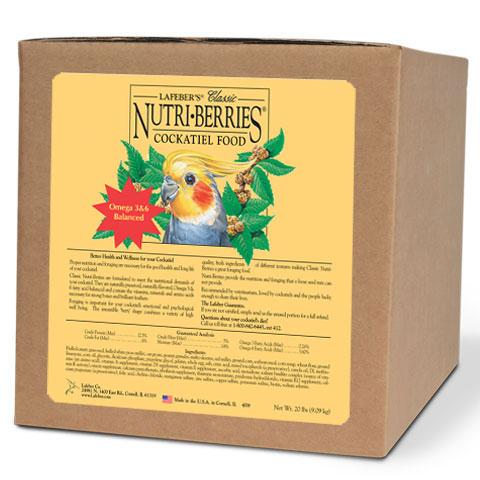Lafebers Classic Cockatiel Nutri-berries 20 lb (9.09 Kg)