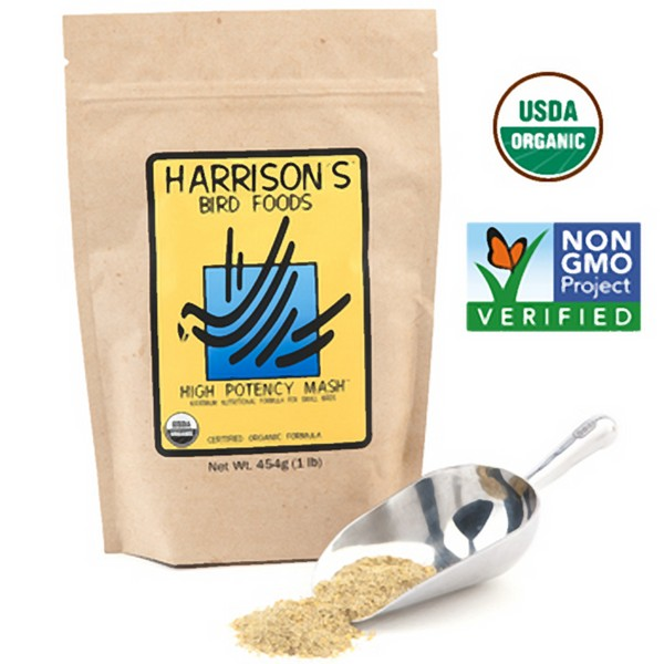 Harrisons High Potency Mash Organic Bird Food 1 lb (454 G)