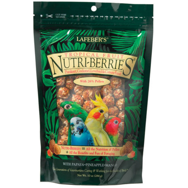 Lafebers Gourmet Tropical Fruit Nutri-berries Cockatiel 10 oz (234 G)