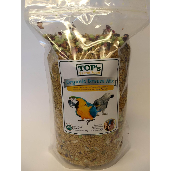 TOPS Parrot Food Organic Dream Mix Large 5 lb (2.27 kg)