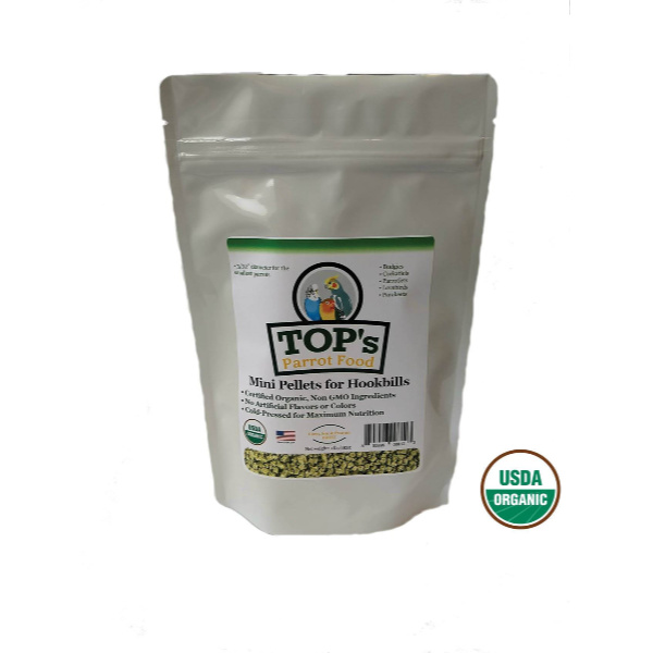 TOPS Parrot Food Pellets For Mini Hookbills 4 lb (1.8 kg)