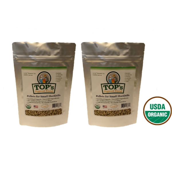 TOPS Parrot Food Pellets For Small Hookbills 2 Pack 3 Lbs 6 Lbs total