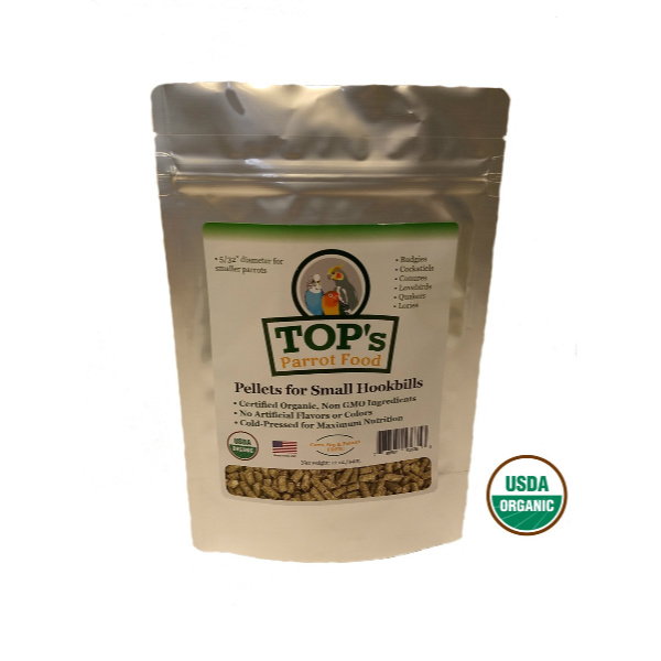 2 PACK TOPS Parrot Food Pellets For Small Hookbills 12 oz