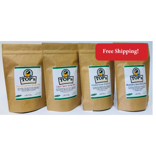 4 PACK TOPs Premium Birdie Bread Mix Bundle
