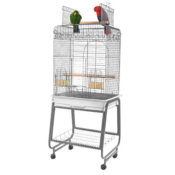 Flat Top Bird Cage for Smaller Birds by AE 702 Platinum