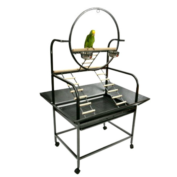 Parrot Play Stand for Medium Parrots by AE J6 Black