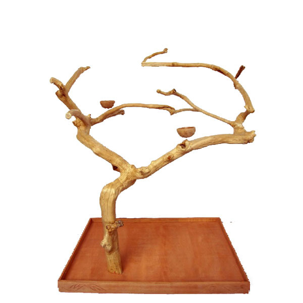 Java Wood Parrot Play Stand Tree by AE Large Birds 200L