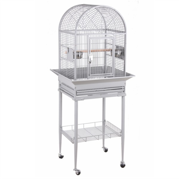 Dome Top Bird Cage for Small Birds by HQ 21816 Brass