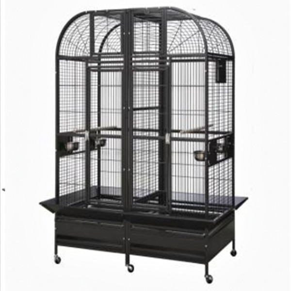 Divided Bird Cage for Large Parrots HQ 36432D Platinum