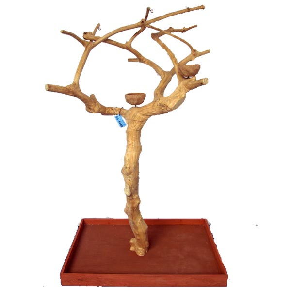 Java Wood Parrot Play Stand Tree Boxed by AE Small Birds 250S