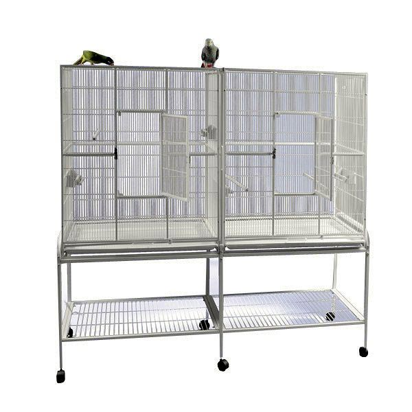 Divided Bird Aviary Cage for Smaller Birds by AE 6421 Black