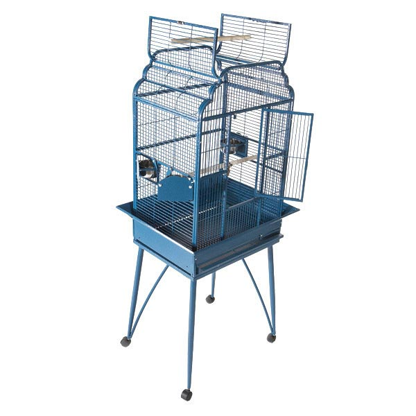 Elegant Top Bird Cage for Small Birds by AE 22x17 Black