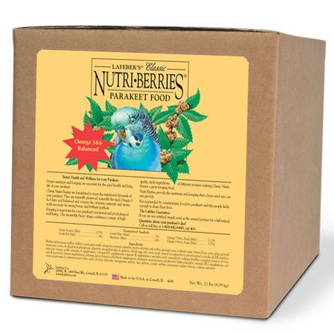 Lafebers Classic Parakeet Nutri-Berries Bird Food 20 lb (9.09 Kg)