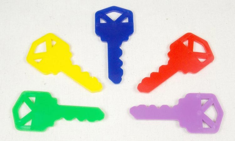 Plastic Keys for Bird Toys and Promotional Use 5 pc