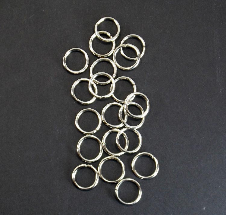 O Rings for Bird Toy Making 3/4 inch (1.6 mm) NP Non Welded 20 pc