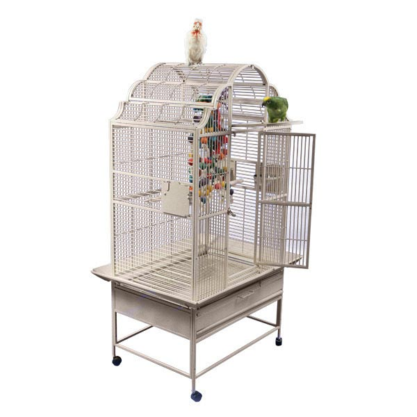 Elegant Top Bird Cage For Medium Large Parrots by AE GC6-3628 Platinum