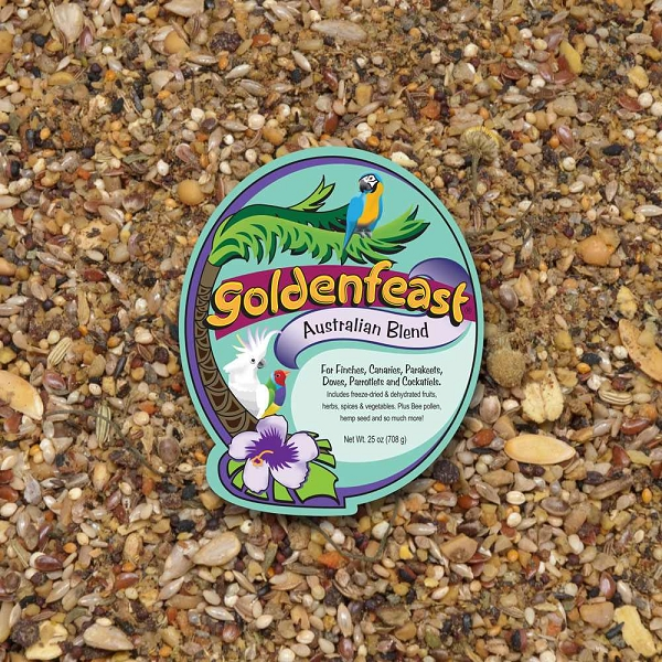 Goldenfeast Australian Blend Small Exotics Bird Food 25 oz (708 G)