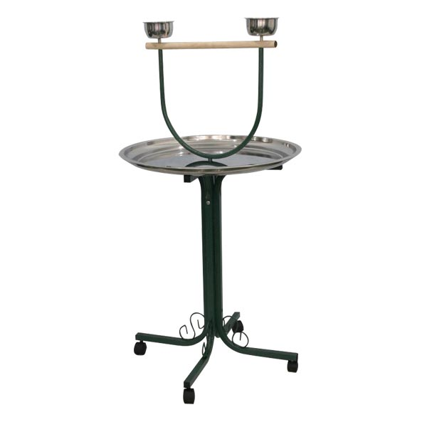 Parrot Play Stand on Casters by AE J8-2828 Black