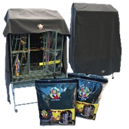 Cozzzy 36 Inch x 28 Inch Parrot Cage Cover for Play Top cages - 3628PT - Black