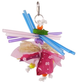 Calypso Creations Preening Small Bird Toy - Spinning Straws