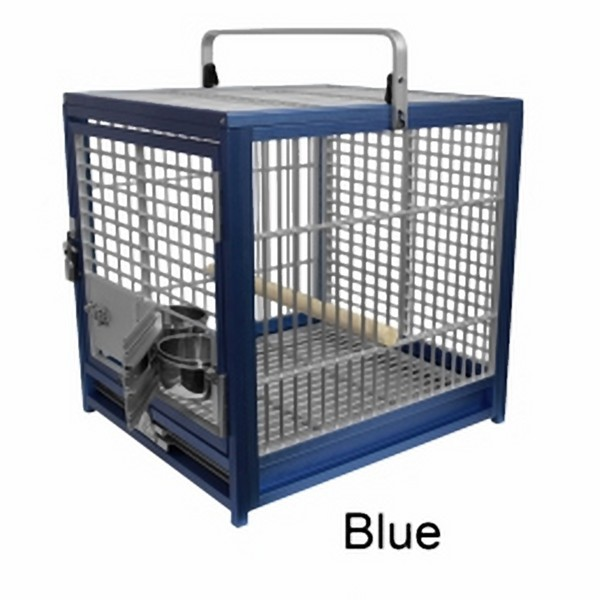 Aluminum Travel Cage for Medium Birds by King's Cages Silver ATS1719