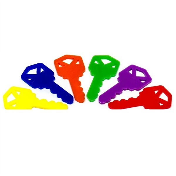Plastic Keys for Bird Toys and Promotional Use 6 pc