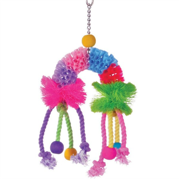 Calypso Creations Preening Bird Toy - Over The Rainbow