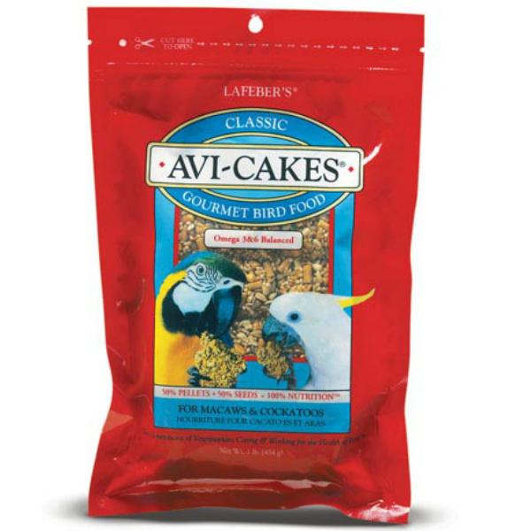 Lafebers Classic Avi-cakes Macaw Cockatoo 16 oz (.45 kg)