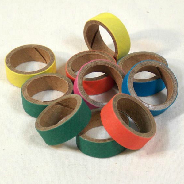 Birdie Bagels Mini 1 in x 1/2 in Paper Chew Rings for Birds 15 pc