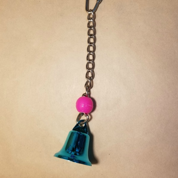 Tiny Tinkler Colored Bell Toy for Small Birds and Parrots Medium