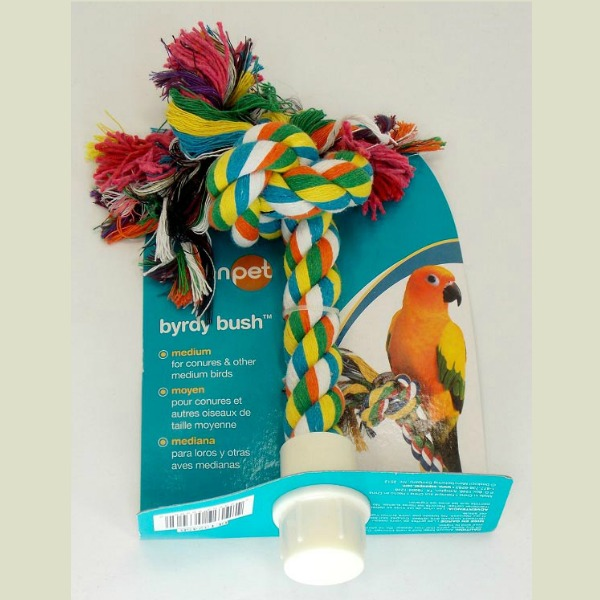 Comfy Rope Booda Byrdy Bush Preening Perch Medium 6""