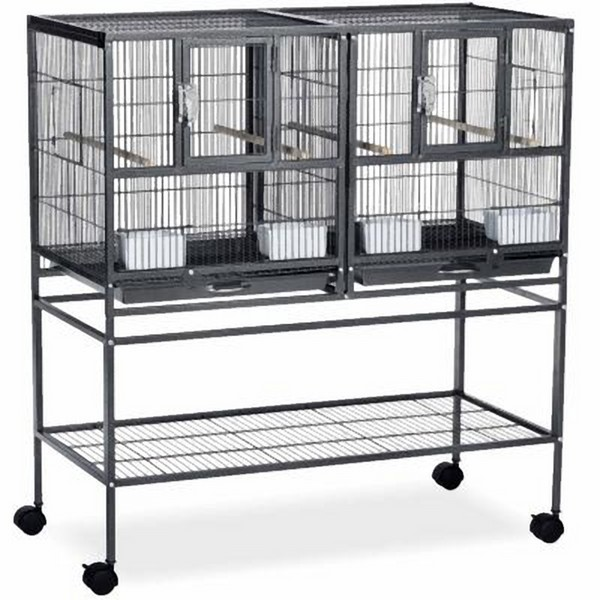 Breeder Cage The Hampton Deluxe Divided Breeder/flight Cage W Stand