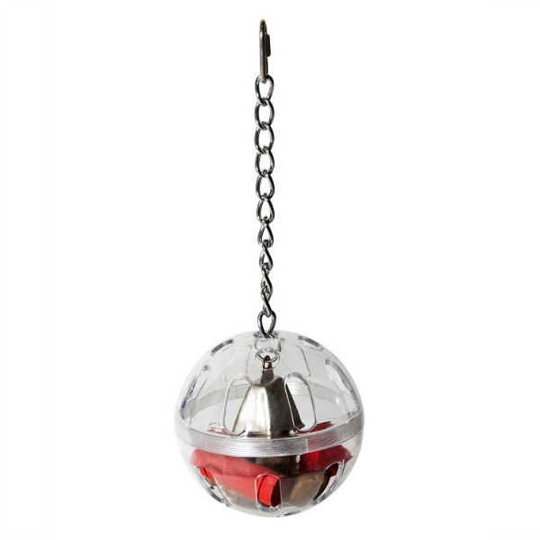 Interactive Foraging Treat Holder on Chain - PartyBall & Bell Large