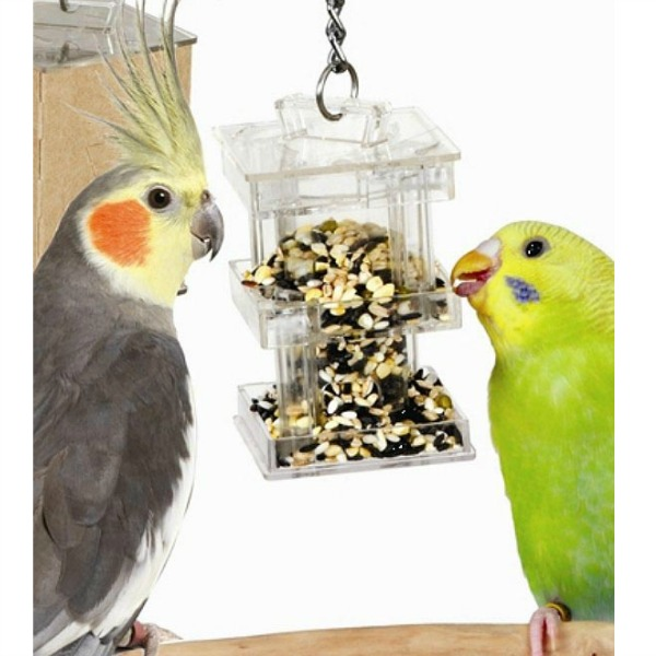 Creative Foraging Systems HideAway Foraging Box Feeder for Small Birds