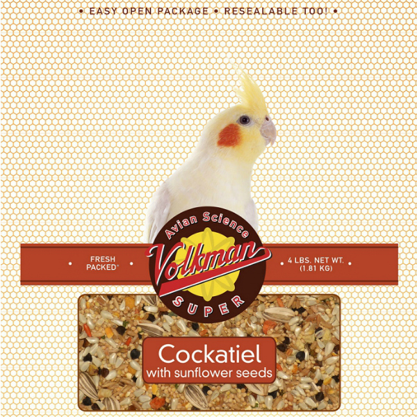 Volkman Avian Science Super Cockatiel Food 4 Lb (1.8 Kg)