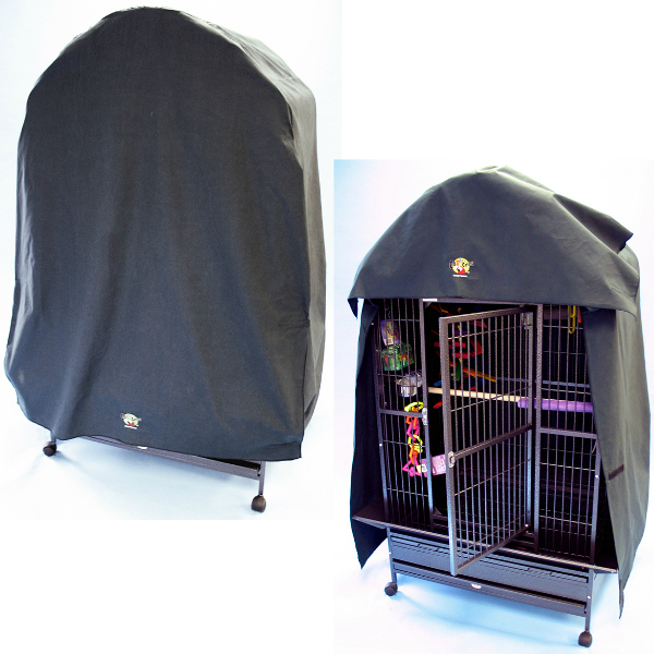 Cozzzy 46 Inch x 30 Inch Bird Cage Cover for Dome Top cages - 4630DT - Black