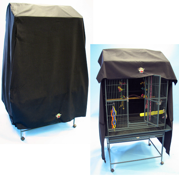Cozzzy 32 Inch x 21 Inch Parrot Cage Cover for Flat Top 13221 cages - 3221FT - Black