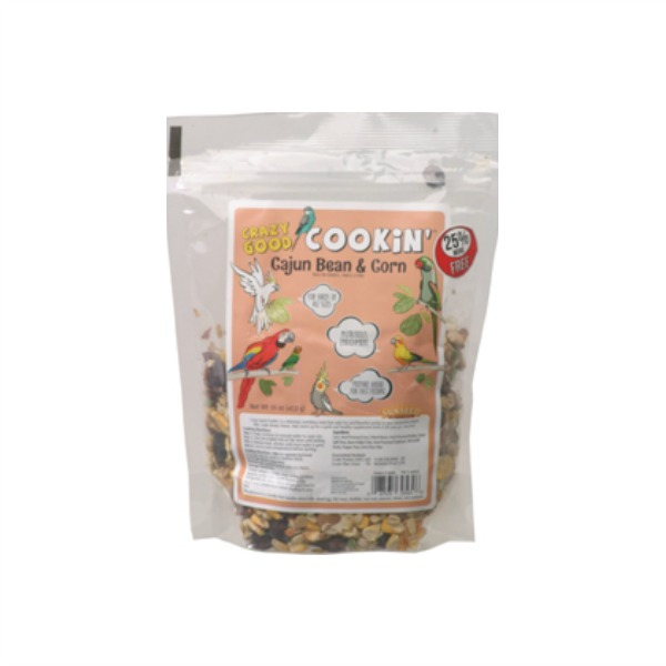 Crazy Good Cookin\' Cookable Bird Food Cajun Bean & Corn 1 lb (454 G)