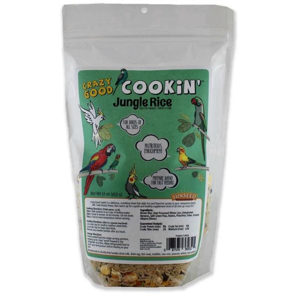 Crazy Good Cookin' Cookable Bird Food Jungle Rice 1 lb (454 G)